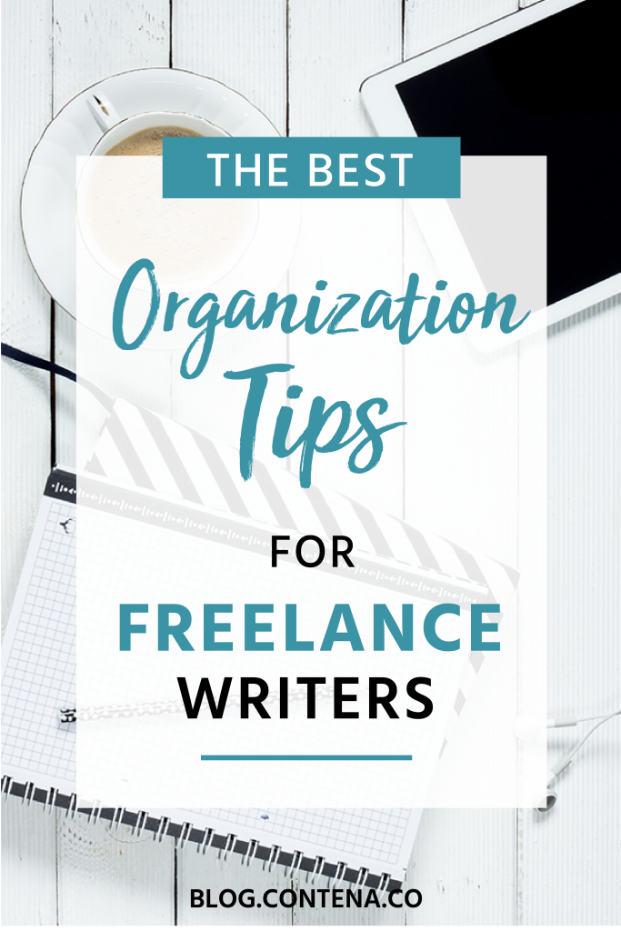 Check out these organization tips and hacks for freelance writers. Being organized as a freelancer is critical to your success with finding jobs and getting paid. Even as a writer with no experience, learn how to get organized and set yourself up for freelancing success. #Organization #Organized #Tips #Hacks #FreelanceWriting #Freelancer #WorkFromHome #SideHustle #Money #OnlineBusiness #Writing #WritingJobs