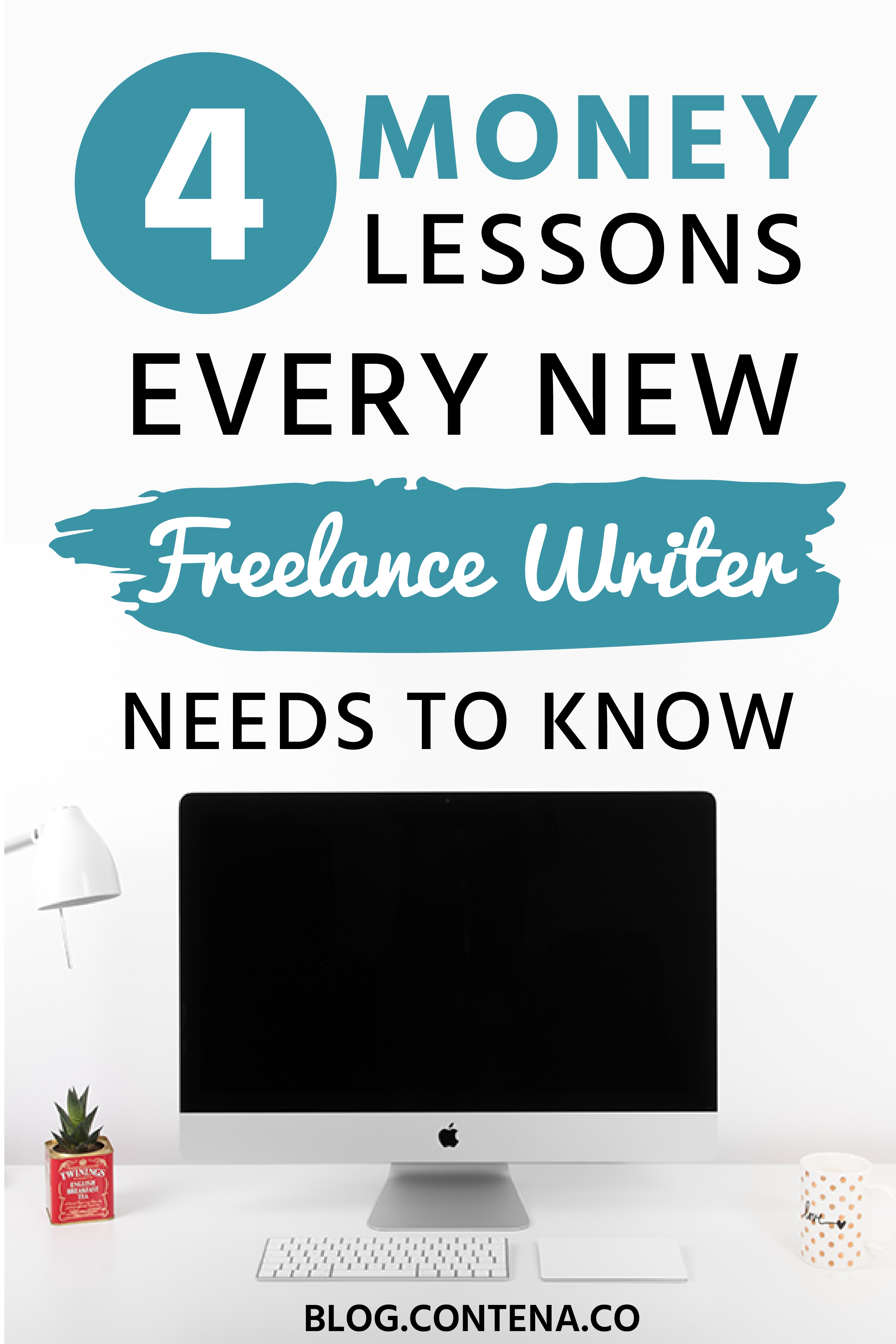 If you're a beginner freelance writer, here are 4 money lessons you need to know. We're talking about paid freelance writing gigs, content mills, how to work smart as a freelancer, charging fees and pricing, and the remote worker lifestyle. #FreelanceWriting #Freelancer #WorkFromHome #SideHustle #Money #OnlineBusiness #Writing #WritingJobs #Money