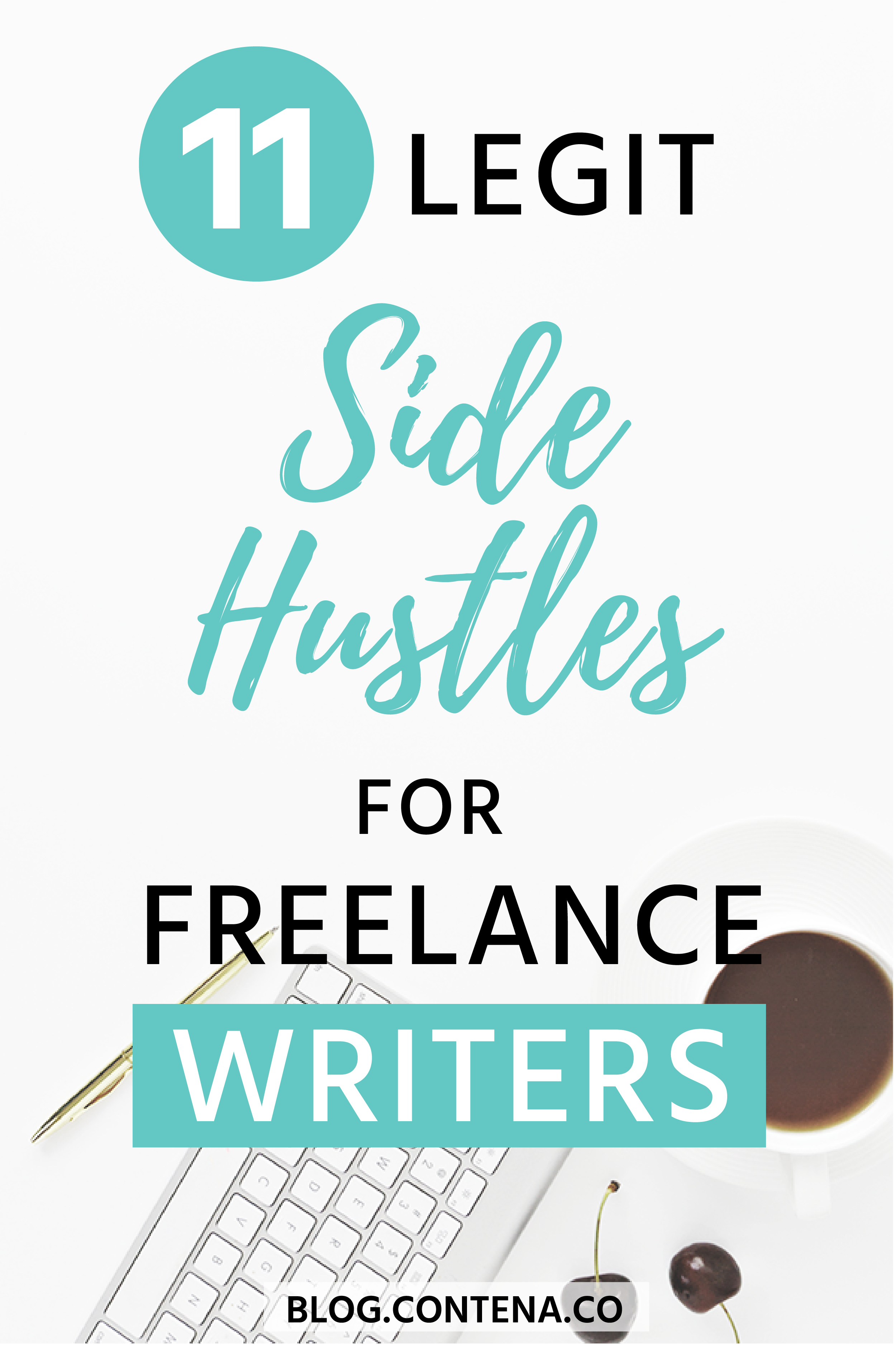 If you're making money as a  freelance writer, you might also want a side-hustle. Here are 11 legit jobs and side hustles for freelancers. The best jobs to make you money where you can from home or work remotely. #WorkFromHome #SideHustle #RemoteWork #FreelanceWriting #Freelancer #WorkFromHome #SideHustle #Money #OnlineBusiness #Writing #WritingJobs #Money