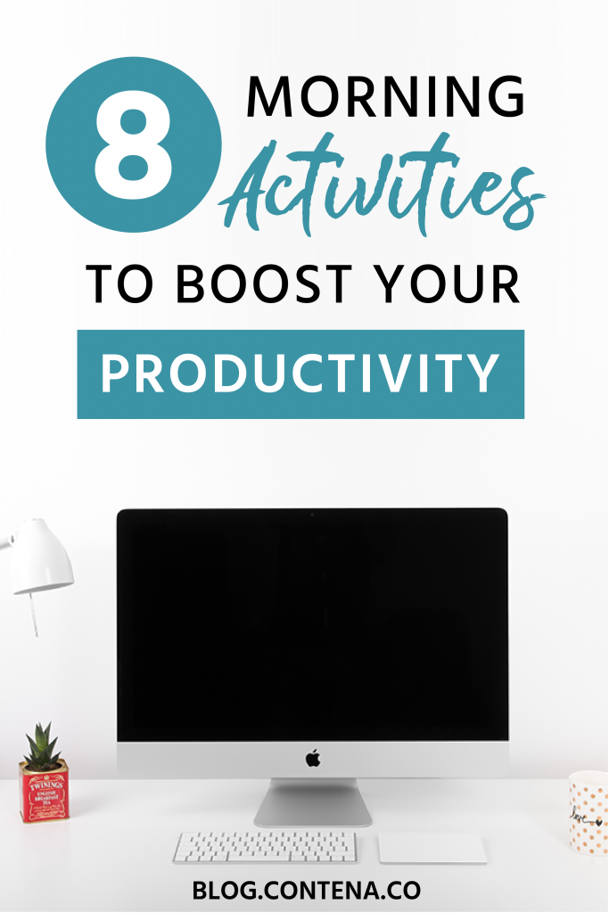 Boost your productivity as a freelance writer with these morning activities. Start your day off right and set yourself up to be productive with these morning tips. If you want to make money working from home, you need to be productive in that environment- here's how. #Productivity #MorningActivities #Routines #FreelanceWriting #Freelancer #WorkFromHome #SideHustle #Money #OnlineBusiness #Writing #WritingJobs #Money