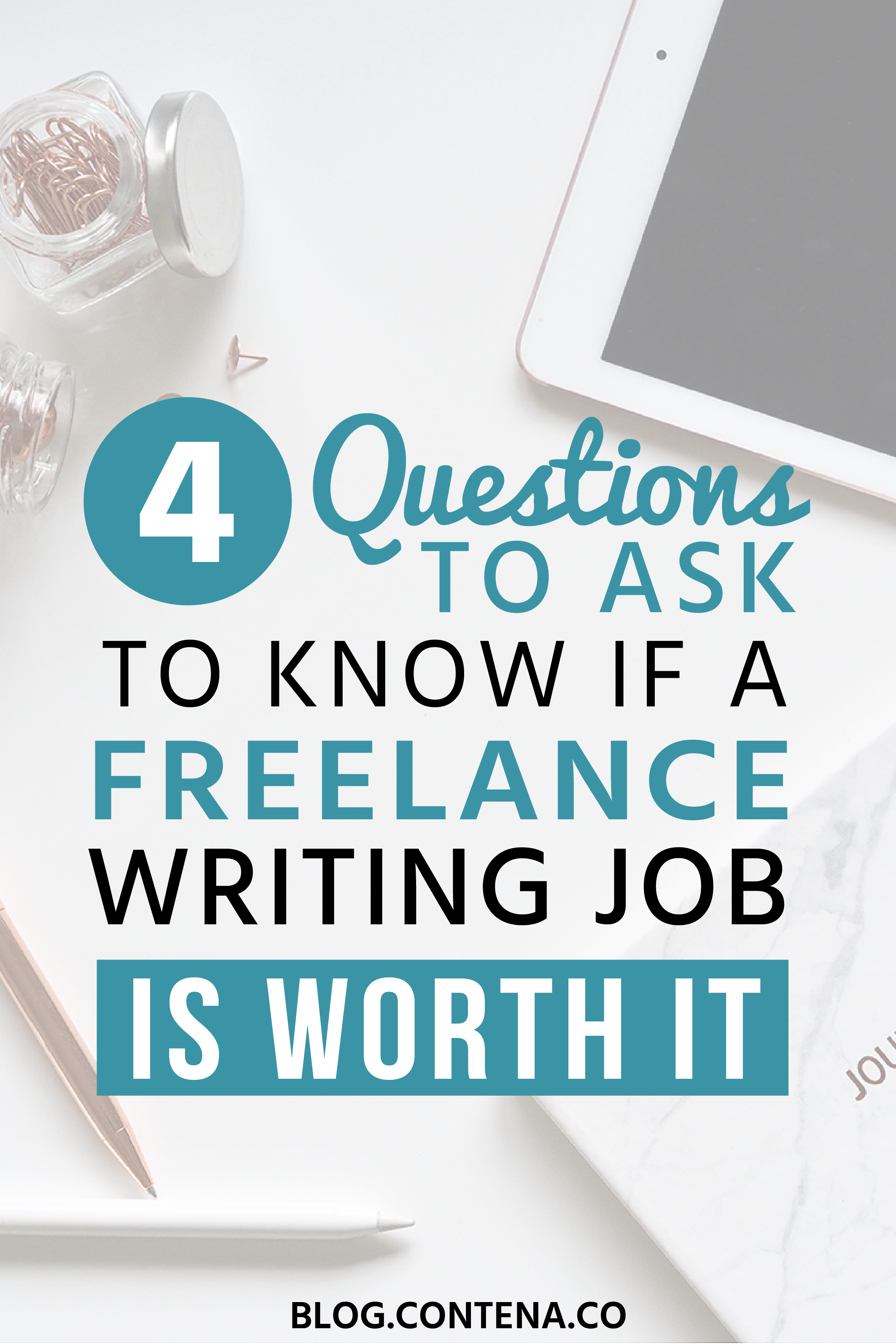 If you're a beginner freelance writer, or even a pro, before you take a freelance writing job, you want to know if it's legit. Is the money worth it? Is the job legit? Here are 4 questions to ask yourself before you take a freelance writing job. #FreelanceWriting #Freelancer #WorkFromHome #SideHustle #Money #OnlineBusiness #Writing #WritingJobs #Money