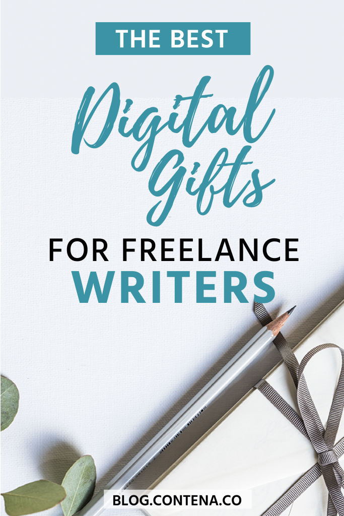 Check out this gift guide for freelance writers. We have the best list of digital gifts for freelancers. If you're looking for holiday or birthdays, or need gift-giving inspiration this gift guide has exactly what your favorite freelancer wants. #Gifts #GiftGuide #FreelanceWriting #Freelancer #WorkFromHome #SideHustle #Money #OnlineBusiness #Writing #WritingJobs #Money