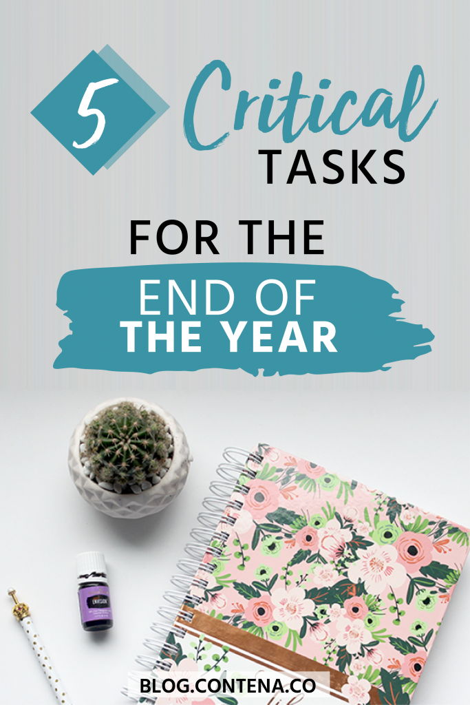 Freelance writers have a lot of tasks they need to do to grow and maintain their business. At the end of the year there are 5 critical tasks you need to do for your biz. Make sure you set goals for your writing, organize your taxes, and update your portfolio. Check out these tips to grow your freelancing business this year. #EOY #HappyNewYear #2019 #FreelanceWriting #Freelancer #WorkFromHome #SideHustle #Money #OnlineBusiness #Writing #WritingJobs #Money