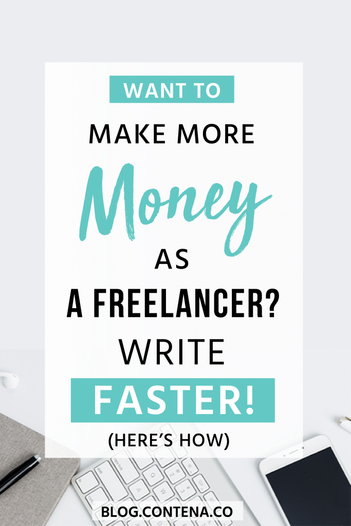 If you want to make more money as a freelance writer, one way to do that is to be a faster writer. Not sure how to write faster? We have tips and ideas to help improve your writing speed to make money as a freelance writer, even if you're a beginner. Freelance writing jobs are important, but you need to be productive with your time! #FreelanceWriting #Freelancer #WorkFromHome #SideHustle #Money #OnlineBusiness #Writing #WritingJobs #Money