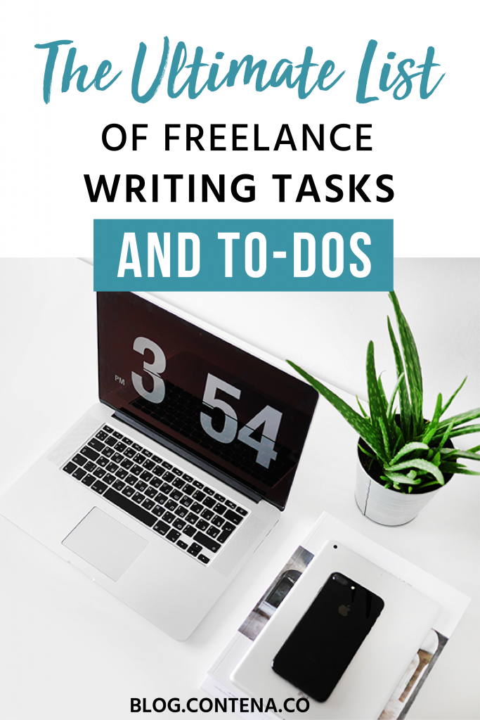 Freelance writers need to be organized, otherwise you risk missing deadlines, payments, and you won't grow your business. Check out this ultimate to-do list of tasks you need to do: daily checklists, weekly to-dos, and more. This list of tasks will keep freelancers on track to make money and get published. #ToDo #Checklist #FreelanceWriting #Freelancer #WorkFromHome #SideHustle #Money #OnlineBusiness #Writing #WritingJobs #Money