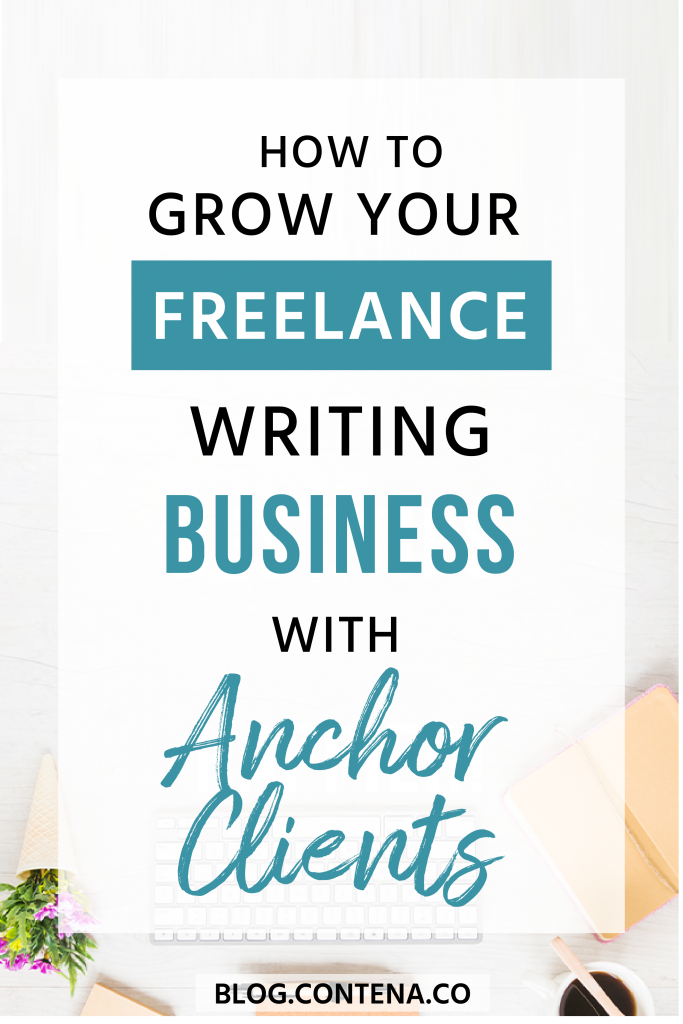 One way to grow your freelance writing business is through anchor clients. These are clients who you are able to make money from the writing jobs consistently, and usually these anchor clients make up a larger part of your income. Learn how to find and secure anchor clients with these tips and ideas and build your freelance writing business. #AnchorClients #FreelanceWriting #Freelancer #WorkFromHome #Contena #SideHustle #Money #OnlineBusiness #Writing #WritingJobs