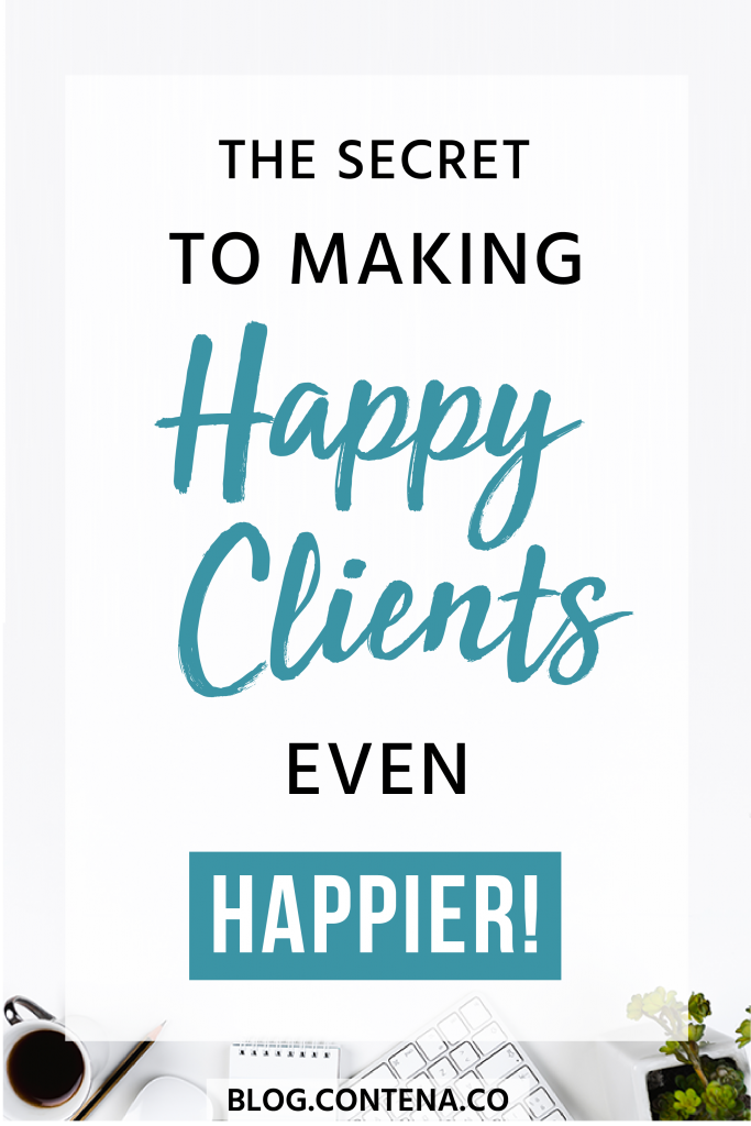 Freelance writers want to keep their clients happy so that you can get hired for more writing jobs! But what if you could make your happy clients even happier? Check out these tips when you're freelance writing so you can keep getting paid to write! #HappyClients #FreelanceWriting #Freelancer #WorkFromHome #Contena #SideHustle #Money #OnlineBusiness #Writing #WritingJobs